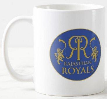 Mott2 - Indian IPL T20 Rajasthan Royals (RR) Halla Bol Fan Club - Printed Ceramic Coffee Mug - MUGIPLRR01