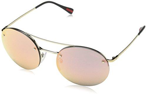 Prada Linea Rossa Unisex PS54RS Sonnenbrille, Pale Gold ZVN5L2, One size (Herstellergröße: 56)