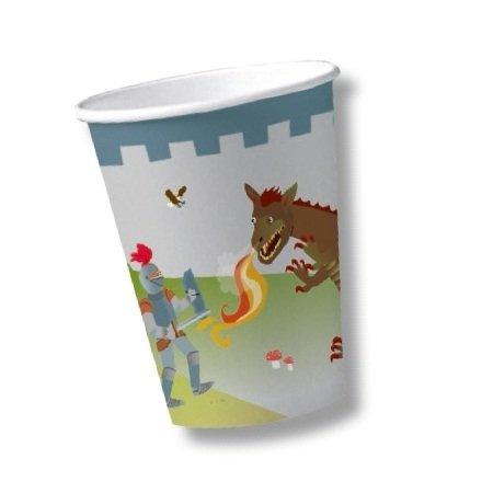 r & Drache * für Kindergeburtstag von DH-Konzept // CUPS00043 // Becher Kinder Geburtstag Party Drachen Feier Jungs Set (Drache-geburtstags-party)