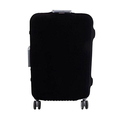 YiJee Thicken Wearproof Elasticidad Color del Caramelo Cubierta de Equipaje de Viaje Maleta Funda Protectora 18-32 Pulgadas, Negro 1, Medium