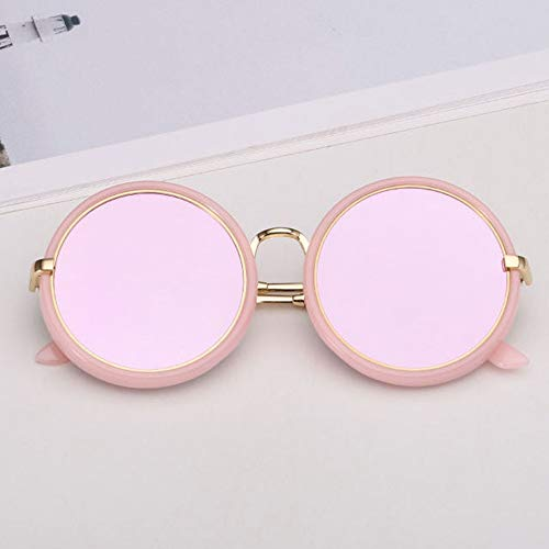 Sonnenbrille Retro Kids Sonnenbrille Mädchen Runde Goggle Candy Farbe Objektiv Sonnenbrille Neue Runde Sonnenbrille Für Jungen Mädchen Kind Pink Rosa Lila