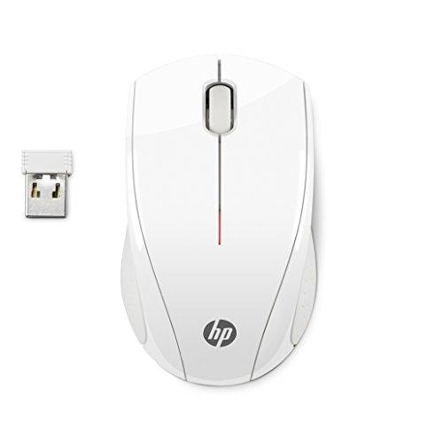 HP X3000 White Wireless Mouse RF sans fil Optique 1200DPI Ambidextre Blanc souris - Souris (Ambidextre, Optique, RF sans fil, 1200 DPI, 80 g, Blanc)