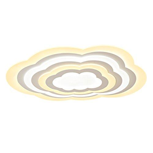 ZHAOJING La lampe de plafond des enfants de nuage simple moderne créative masculine et femelle a mené la chambre chaude de chambre à coucher de princesse chaude de lampes de conception distinctive L'esthétique a mené la tendance de l'éclairage 64W ( Couleur : Lumière chaude )