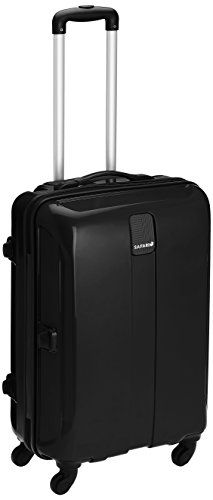 Safari Thorium Polycarbonate 66 (cms) Black Hardsided Suitcase (Thorium-Sharp-Black-65-4WH)