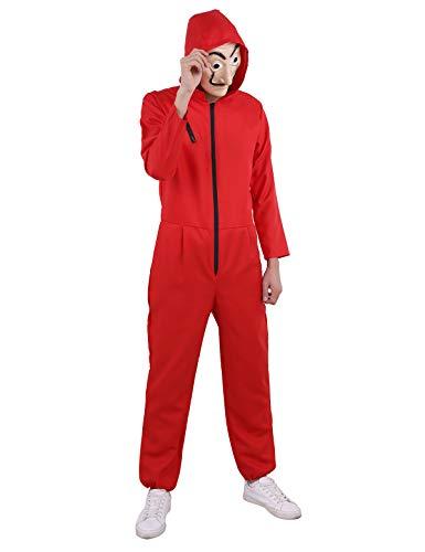 iEFiEL Ganzkörper Anzug für Erwachsense Kostüm Verkleidung Roter -