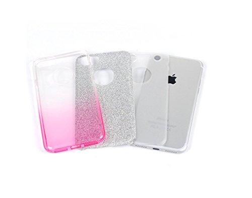 Yooky iphone 7 7S 4,7 Zoll Silikon Hülle Case Cover , Transparente weiche TPU klar kratzfest Blume Schutzhülle Hülle Tasche Kasten Auto für Apple Iphone 7 Style 3