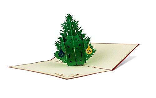 Diese-Klappkarten Weihnachten Lustige Frohe Weihnachtsbaum 3D Pop-Up Karte | Weihnachtskarte mit Umschlag Motive Weihnachtsbaum W02