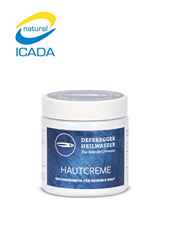 Hautcreme 100ml - Hautpflege und Hautschutz bei trockener, juckender, schuppiger, geröteter Haut - ohne Cortison - 100% natürliches Deferegger Heilwasser - mit vielen wertvollen Mineralstoffen -