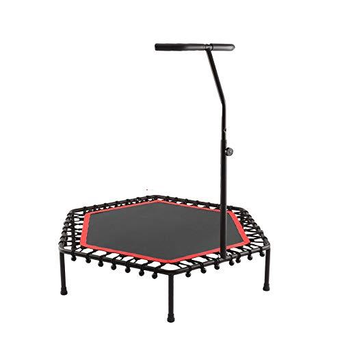 FLY FLU Cross Jump Trampolin,Fitness-Trampolin Indoor/Outdoor Klappbar 3-Fach Höhenverstellbarer Haltegriff, Nutzergewicht Bis 200kg, Trampolin Für Jumping Fitness,D
