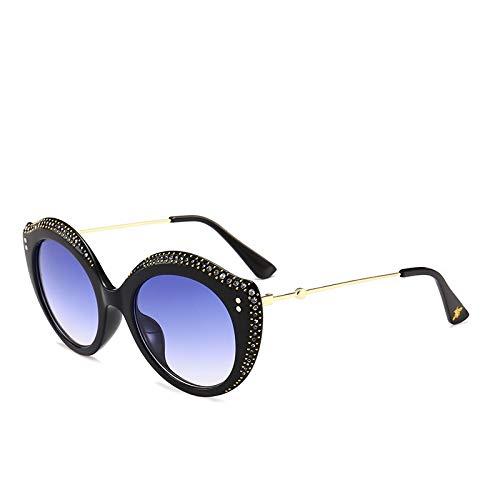 Yiph-Sunglass Sonnenbrillen Mode Diamanten Besetzte Sonnenbrille UV-Schutz Lippe Gläser Outdoor-Tourismus Camping Zubehör (Color : Blue) -