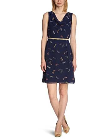 MEXX Damen Kleid (knielang) N1ESD009, Gr. 34 (XS), Blau (404)