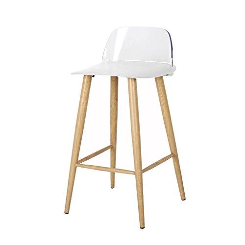 Sgabello da bar moderno minimalista creativo, sgabello da bar sgabello da pranzo alto, sedia da cucina sedia da cucina, negozio di caffè sedie da ristorante, casa. (color : white)