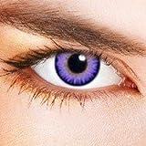 Lila gefärbte Kontaktlinsen , Violett - Kontaktlinsen Halloween Verrückte Fancy Dress Linsen
