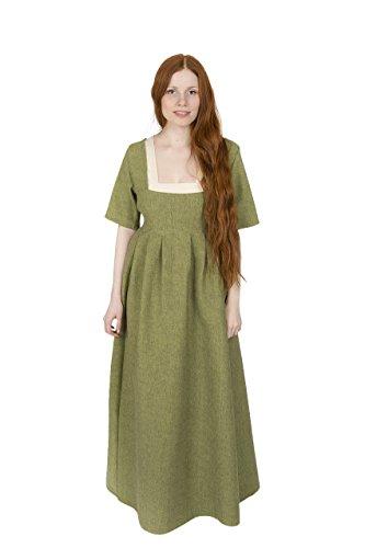 alter Kleid Frideswinde 100% Baumwolle Lindgrün (XXL) ()