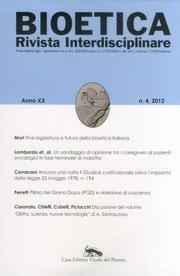 Bioetica. Rivista interdisciplinare (2012): 4