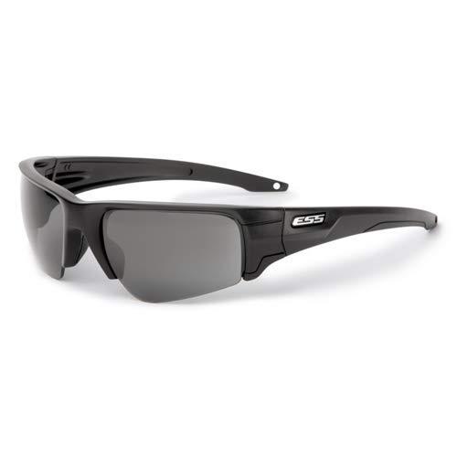 ESS Sonnenbrille Brecheisen schwarz Silber Logo mit klaren und Smoke Gray Objektiv