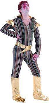 Palmer - Herren Kostüm 70s Sänger Ziggy Stardust Pop (Dress Fancy Star Pop)