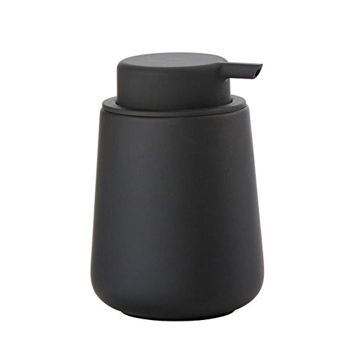 Zone Denmark Nova One 0.25L Black Soap & Lotion Dispenser – Soap & Lotion Sugar Shaker (80 mm; 80 mm; 115 mm)