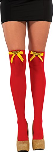 an-Halterlose Strümpfe (Wonder Woman Kostüm Socken)