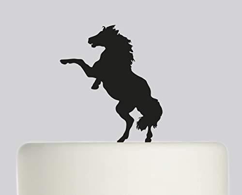 Geburtstagskuchenaufsatz – Pferd Happy Birthday – Acryl Tortenaufsatz – Happy Birthday