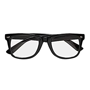 WIDMANN Black Framed Fancy Dress Glasses (accesorio de disfraz)