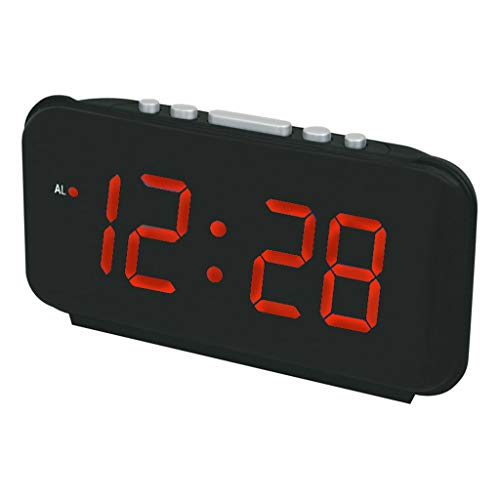 Clock- LED Wecker Elektronischer Wecker Digital Wecker Einfache Bedienung Indoor Home Kreative Dekoration Nachttisch Schreibtisch Studie MäNner Ideales Geschenk Schwarz 9 Zoll 01
