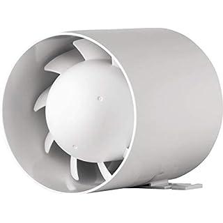 MKK - 5249 - Lüfter Rohr einbau innen Ventilator Kleinraum WC Bad Küche 100mm 10 cm mit Kugellager AirRoxy aRc