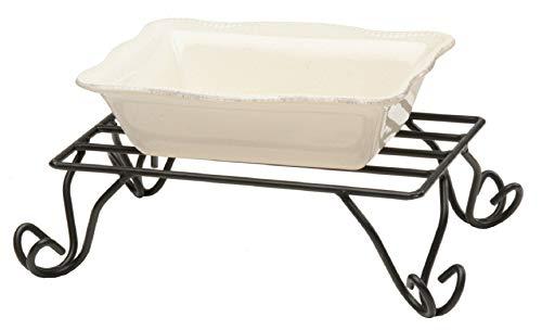 Schmiedeeisernes Serviergestell für Tischplatte, Maße: 27,9 x 19,1 x 9,5 cm, handgefertigt aus Amish of Lancaster County PA. -