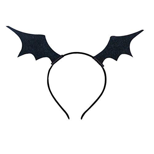 Kostüm Weibliche Halloween - keland Weibliche Fledermausflügel Stirnband Haarnadel Phantasie Halloween Party Rolle spielen Kostüm Kopfbedeckung Haarband (Schwarz)