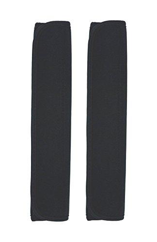 Case Wonder 1 Paar 2 Schwarz Mehrzweck Komfort Schulterpolster Schultergurt Pads für Laptop / Messenger / Boxen / Reisetasche / Auto Sicherheitsgurte Schützen Pads (Schultergurt 1)