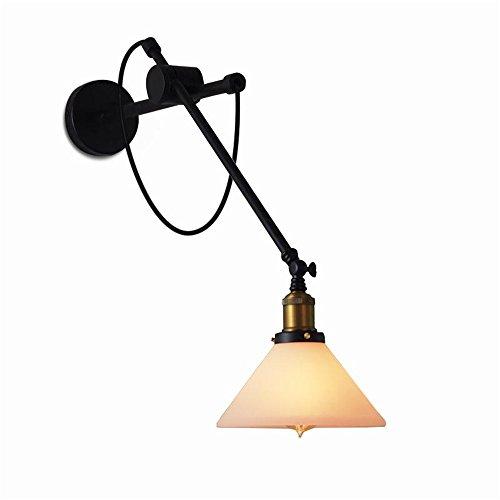 Dual-mount-deckenleuchten (NOHOPE Retro Dual-Use Wandleuchte (Deckenleuchte) Schlafzimmer-Aisle Wohnzimmer Home Decor Glas Lampenschirm Wand Leuchte,A)