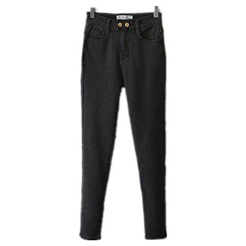 Wgwioo Pantalons De Collants Sans Pieds Slim Jeans Femmes Aplati Poche Classique Premium Confort Relaxed Fit Jambe Droite Black
