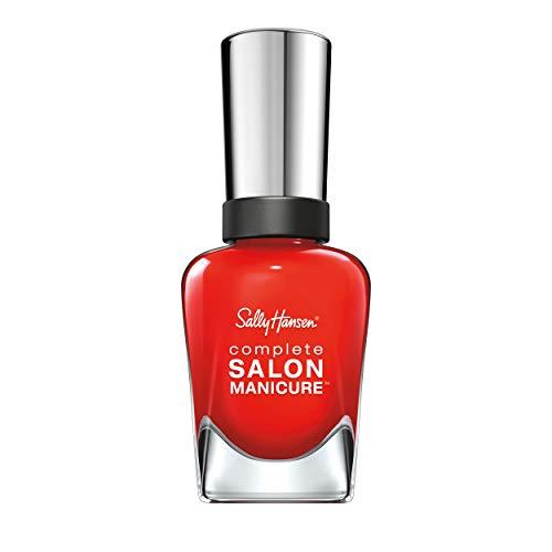 Sally hansen, smalto complete salon manicure, 7 benefici in 1, con cheratina rinforzante, a lunga durata, con cheratina rinforzante, a lunga durata, 554 new flame