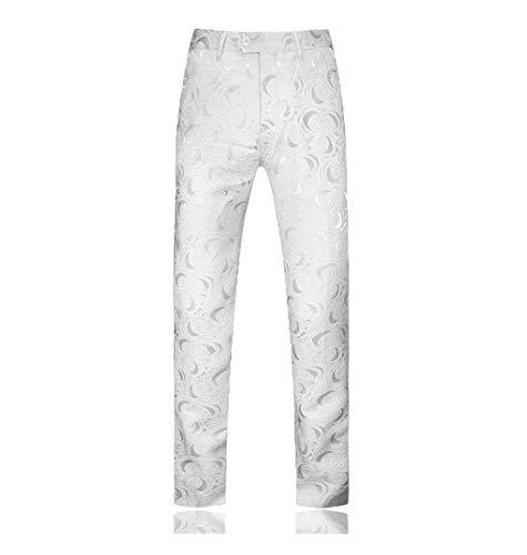 Dwevkeful Anzughose Herrenhose Drucken Hochzeit Party Trousers Business Pants Hosen MäNner Straight Mit Bequemen Regular Fit Bequeme