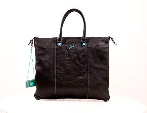 GABS Shopping piatta trasformabile in pelle opaca nera G3PLUSTGLRUGA NERO 43X0X36