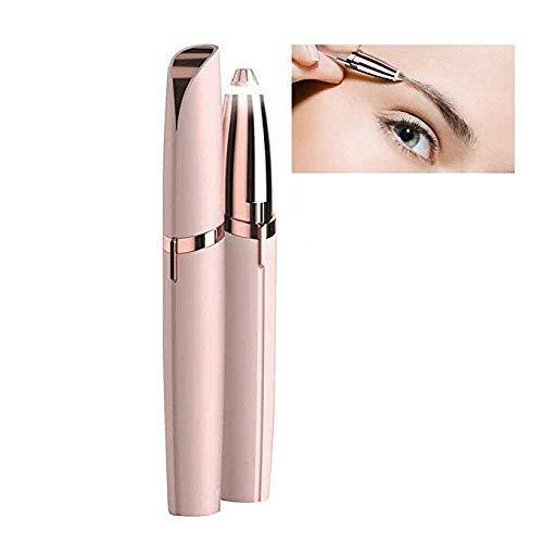 asierer-Haarentferner, Flawless Brow Remover-Rasierer, Rasiermesserfreie Augenbraue-Entfernungs-Trimmer-Epilierer Eingebautes geführtes Licht,Pink ()