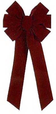 HOLIDAY TRIM 6577 7 Loop Velvet Bow for Decoration, Burgundy by HOLIDAY TRIM -