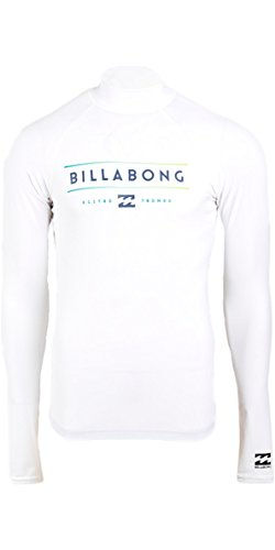 Billabong Herren Unity LS Rash Guards, White, L (Weiß Rash Vest)