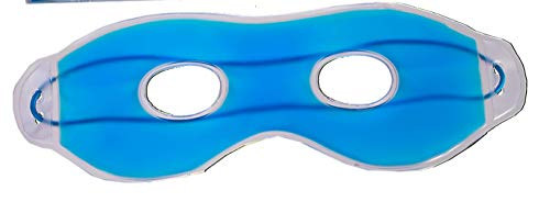 Kühle Gel-augenmaske (Blaue Augen-Maske mit Gel Kühl-Schlaf-Entspannung-Wellness-Brille Spa-Behandlung geschwollene Augen und Augenringe Schlaflosigkeit Migräne Kopfschmerzen (Blau 1er))