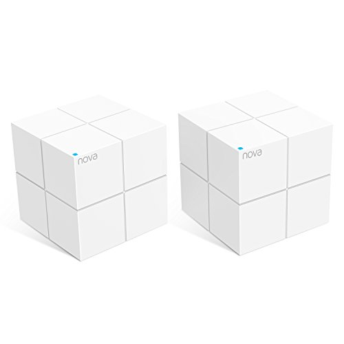 Tenda NOVA Whole Home Mesh Router Sistema WiFi de Red Mesh Banda Dual Cobertura hasta 4,000 sq. ft, Wave 2 802.11AC, MU-MIMO, Beamforming, Parent Control, Funciona con Alexa (MW6 2pack)
