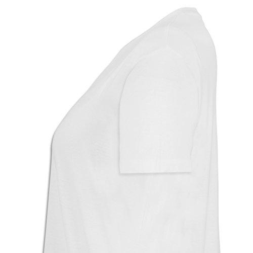 Anfangsbuchstaben - V Collegestyle - Lockeres Damen-Shirt in großen Größen mit Rundhalsausschnitt Weiß