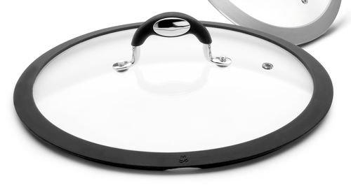 Bialetti - 0a4cv016 - Couvercle 16 cm en verre bord silicone