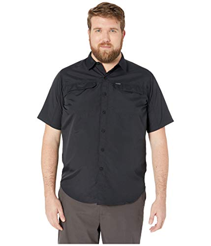 Columbia Men's Silver RidgeTM 2.0 Short Sleeve Shirt, Black, 4X