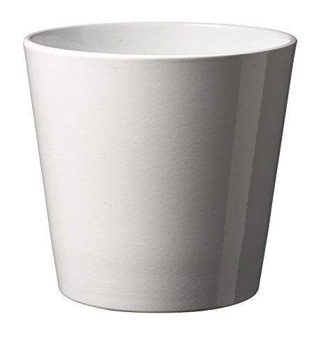 Soendgen Keramik Blumenübertopf, Dallas Style, weiß, 28 x 28 x 27 cm, 0078/0028/0050