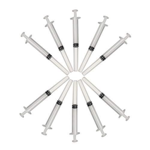 Healifty 10 pcs Einweg Vaginal Anal Nase Applikator Steril Gleitmittel Injektor Hilfe Werkzeuge (3g) - Gel Spritze