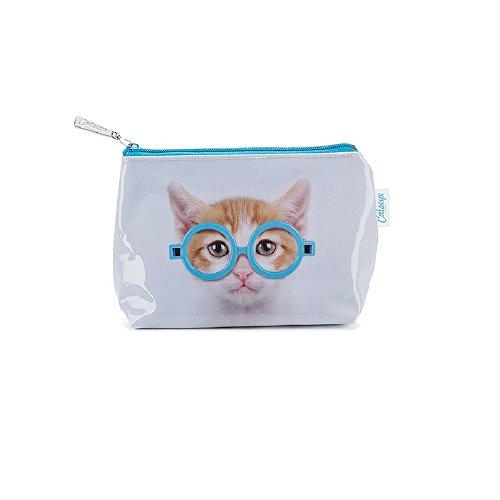 Kosmetiktasche Glasses Cat von Catseye London Jellycat Small Bag Katze mit Brille Kätzchen Kitten