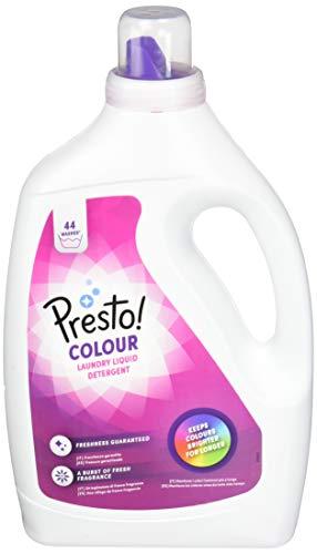 Marca Amazon - Presto! Detergente color líquido, 176 lavados (4 Packs, 44 cada uno)