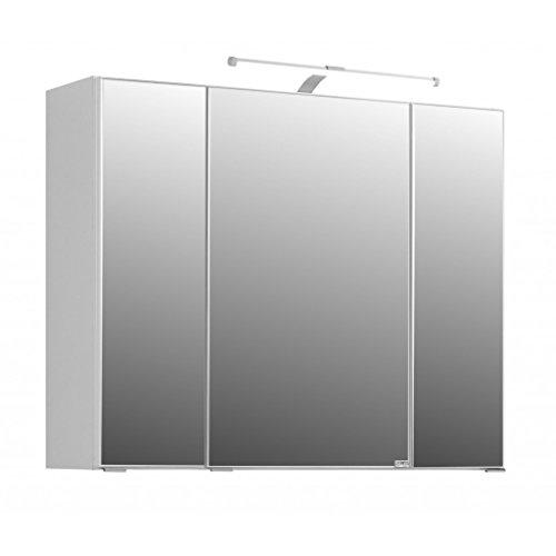 #Spiegelschrank in 5 verschiedenen breiten Bolina weiss inkl. Beleuchtung-Steckdose (breite 90cm)#