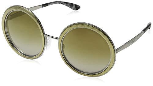 Dolce & Gabbana Damen 0DG2179 13136E 54 Sonnenbrille, Gold/Lightbrownmirrorgold