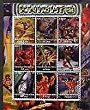 Congo 2002 X-Men - Knights perf sheet set of 9 values u/m ENTERTAINMENTS FILMS CINEMA COMICS FANTASY SCI-FI JANDRSTAMPS